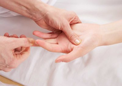 Detail hand reflexology massage